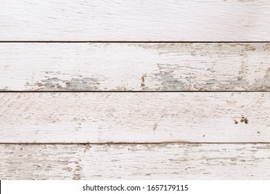 White natural wood wall texture and background, Empty surface white wooden for design,Top view white table and copy space