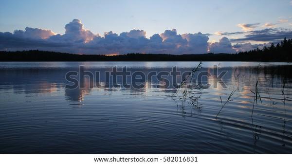 White night in Central Finland
