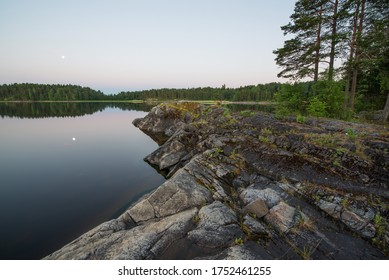 White nights at the lake