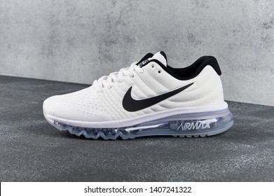 best cheap e7695 88b3c White Nike Air Max 2017 running shoes, sneakers, trainers close up view,  shot