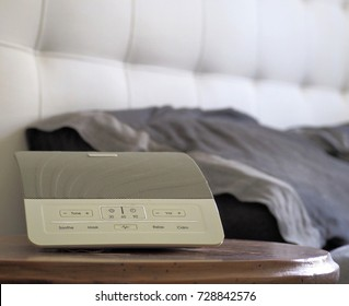 White noise machine, device that produces random sounds used for sleep aid