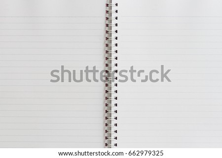white notebook line spine book stock photo edit now 662979325