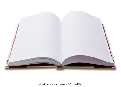 white notebook on white background