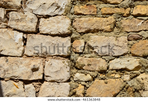 White old ancient chalk wall closeup background