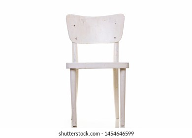 White old chair on white background