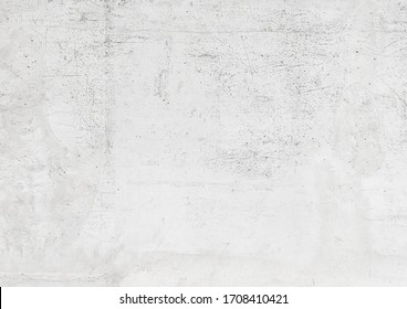 White old concrete wall texture, abstract gray cement scratched building background - Shutterstock ID 1708410421