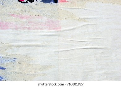 White old paper ripped torn background blank creased crumpled posters grunge textures surface backdrop placard