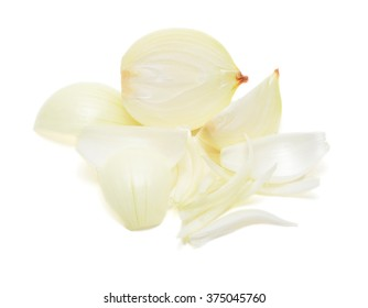 White Onions Isolated On White Background