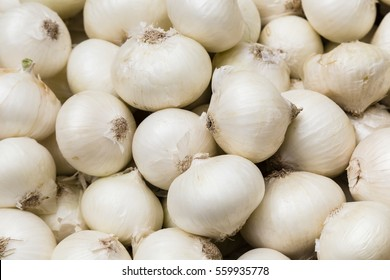 white onions on a market