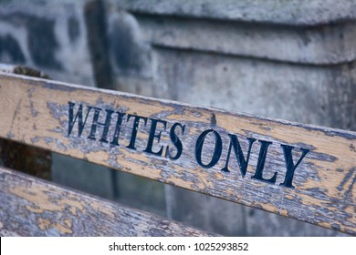 White only bench in Cape Town