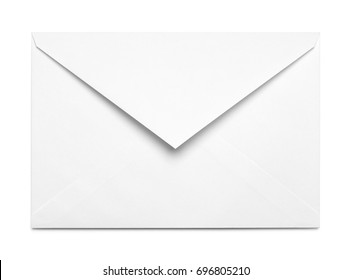 White Open Envelope Isolated on White Background.