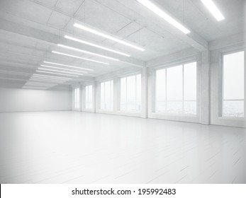 White open plane office