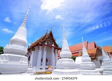 white pagoda in temple thai style culture and symbol of buddhism
