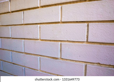 White painted brick wall in an old house.