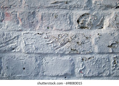 White painted brick wall texture background