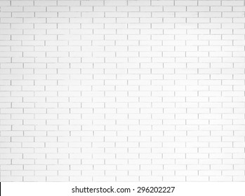 White painted old aged brick tile wall texture background