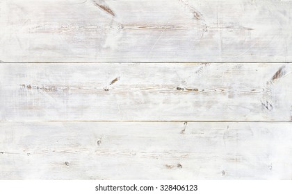 White painted old wooden plank background