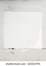 White painted on concrete wall, abstract texture background.