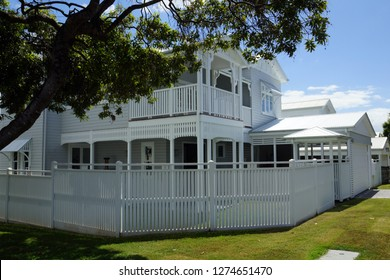 White painted, picturesque queenslander timber home