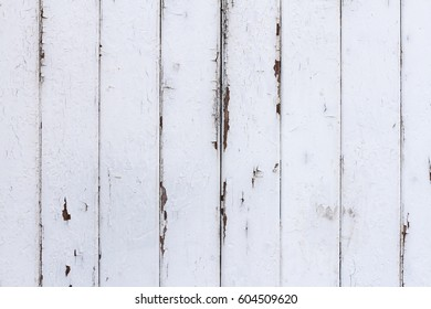 White Painted Shabby Wood Texture Background