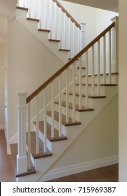 white painted staircase hardwood classic style steps stairway