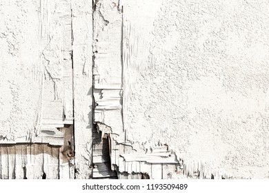 White painted wood - cracked texture background close up