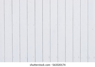 White Painted Wood Planks Background.