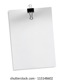 The white paper A4 isolated on white background