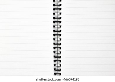 White paper book with line background