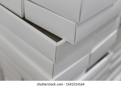 white paper box in factory