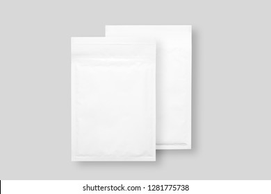 White paper bubble envelopes, isolated