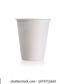White Paper Cup close up  isolate on white