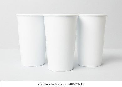 White paper cups mockup