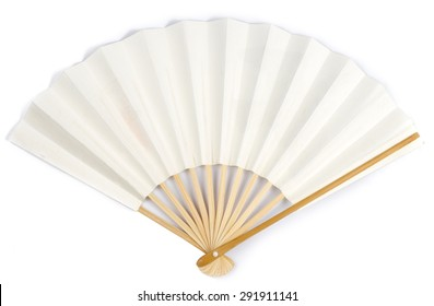 White Paper Fan on White background