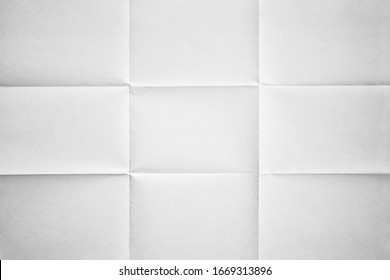 White paper folded in nine fraction background