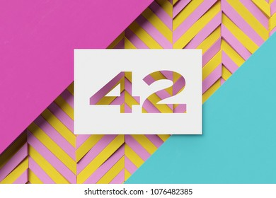 Number 42 Up in Lights Decoartive LED 42nd Birthday White Wooden Age Numbers