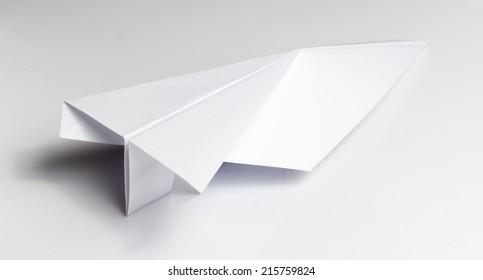 White Paper Origami Plane