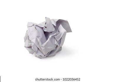 White paper rubbish isolated on white background, clipping path.