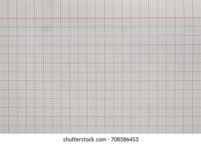 white paper sheet with grid texture background