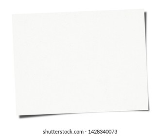 White Paper sheet isolated on white background
