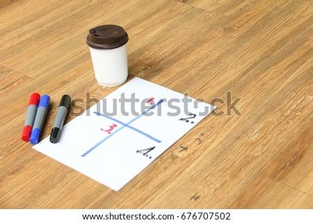 White Paper Sheet Objective Setting Magic Stock Photo Edit Now