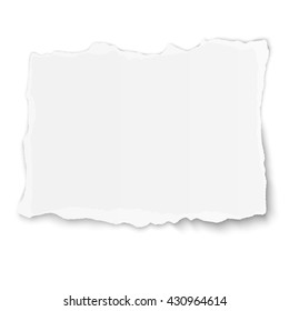 White paper tear isolated