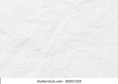 White paper wrinkled texture for background for your design.