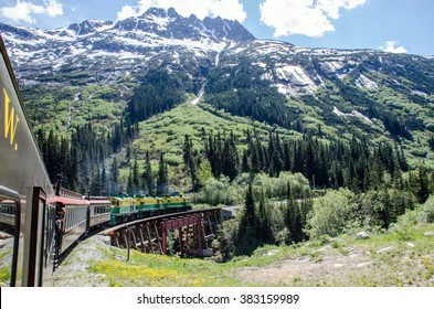 White Pass & Yukon Route Railroad heading towards Skagway, Alaska