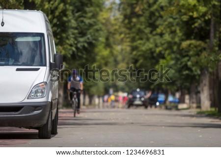 White passenger medium size