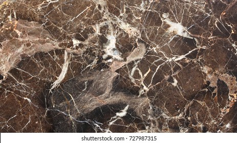 white patterned detail of dark brown marble texture or background (high resolution) for interior design.