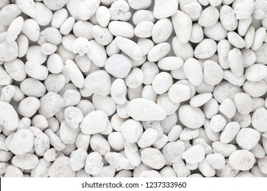 White pebbles stone texture and background