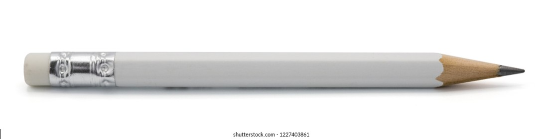 white pencil isolated on white background with clipping path.