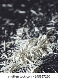 white pencil shavings, stylized