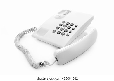 white phone on white background